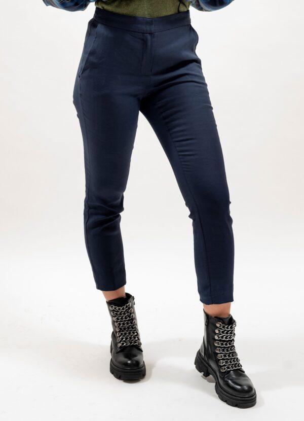 Pantalon conic de dama bleumarin