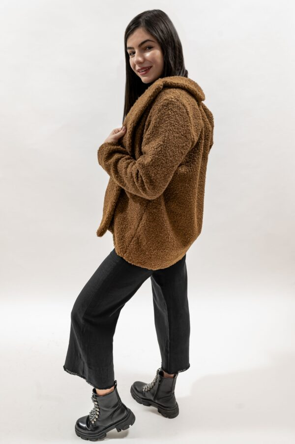 Palton scurt de dama maro